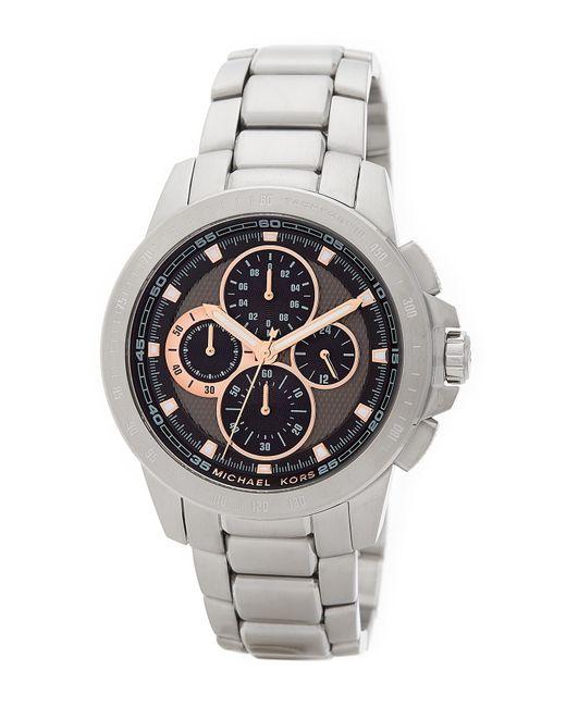 MICHAEL Michael Kors   Metallic Men's Ryker Chronograph Bracelet Watch for Men   Lyst
