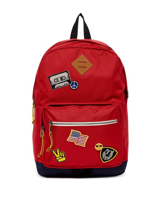 Steve Madden | Red Patch Backpack | Lyst