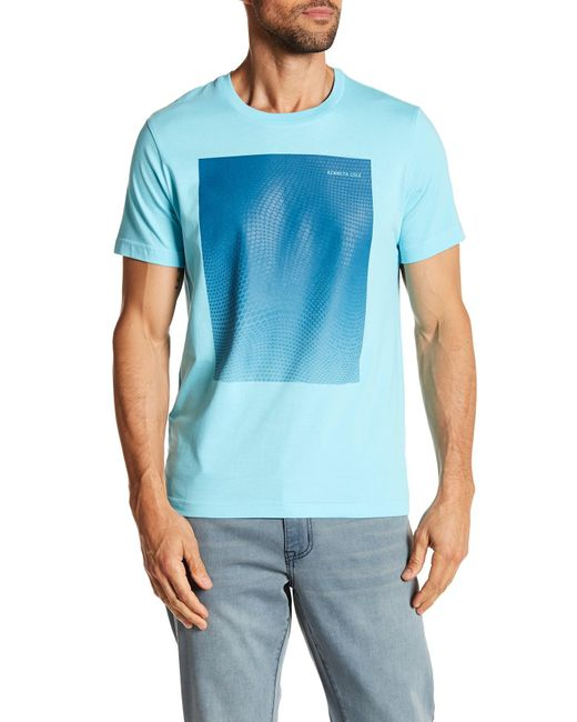Kenneth Cole   Blue Ombre Hexagon Tee for Men   Lyst
