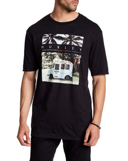 Hurley   Black Sharks Cove Graphic Tee for Men   Lyst