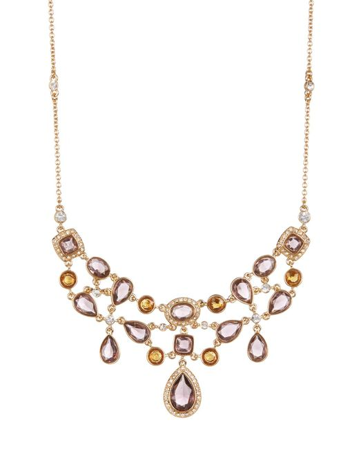 Carolee | Multicolor Cluster Frontal Necklace | Lyst