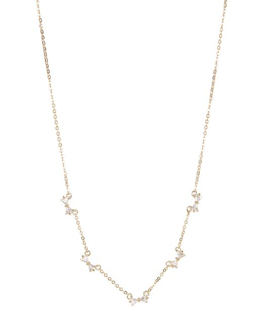 Carolee | Multicolor Pave Bow Illusion Necklace | Lyst
