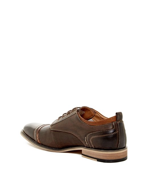Steve Madden Kevlor Casual Dress Cap Toe Oxford In Brown