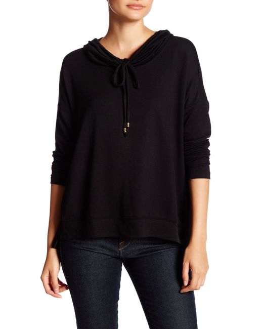 Bobeau | Black Long Sleeve Cowl Neck Sweater (petite) | Lyst