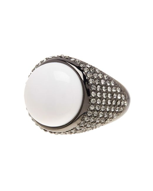 House of Harlow 1960   Embellished White Agate Ring   Lyst