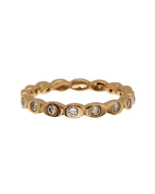 Melinda Maria   Metallic Teeny Cz Pod Ring - Size 8   Lyst