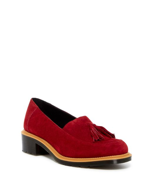 Dr. Martens | Red Favilla Ii Loafer | Lyst