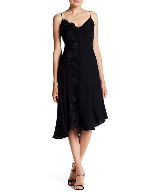 RACHEL Rachel Roy | Black Lace Trim Slip Dress | Lyst