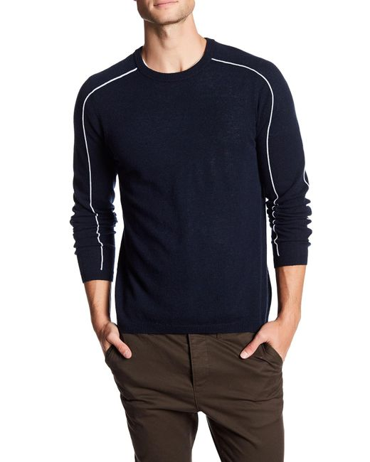 Autumn Cashmere | Blue Sporty Crew Neck Cashmere Shirt for Men | Lyst