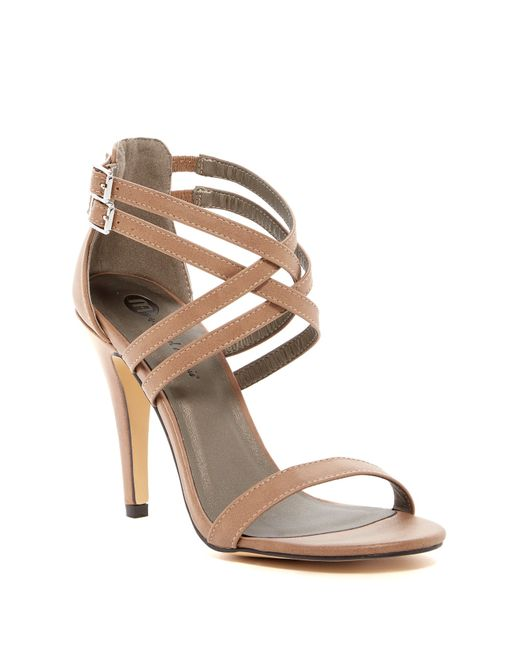 Michael Antonio | Black Rixy Double Strap Heeled Sandal | Lyst