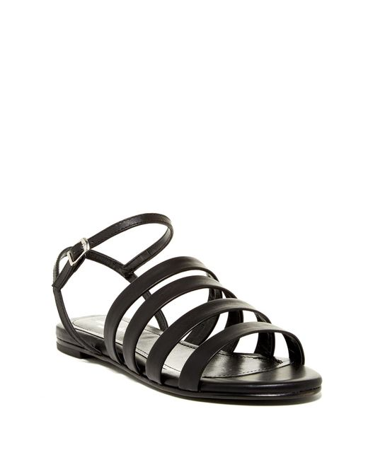 Charles David | Black Stripe Strappy Sandal | Lyst