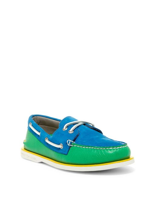 Sperry Top-Sider | Blue Gold Cup Authentic Original 2-eye Boat Shoe for Men | Lyst
