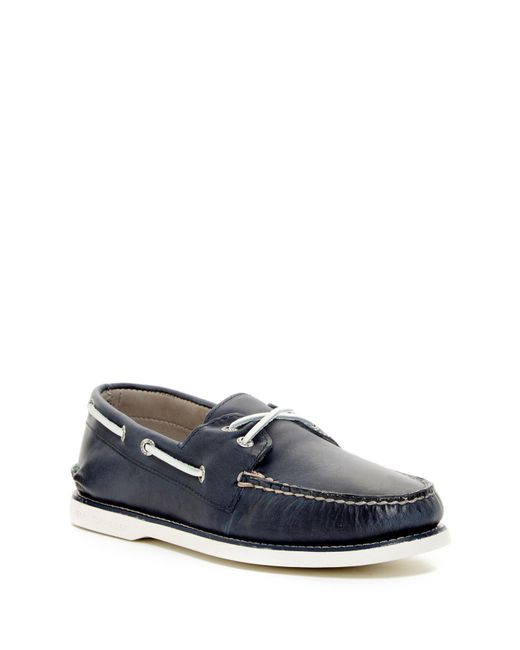 Sperry Top-Sider | Blue Authentic Original Gold Cross Boat Shoe for Men | Lyst