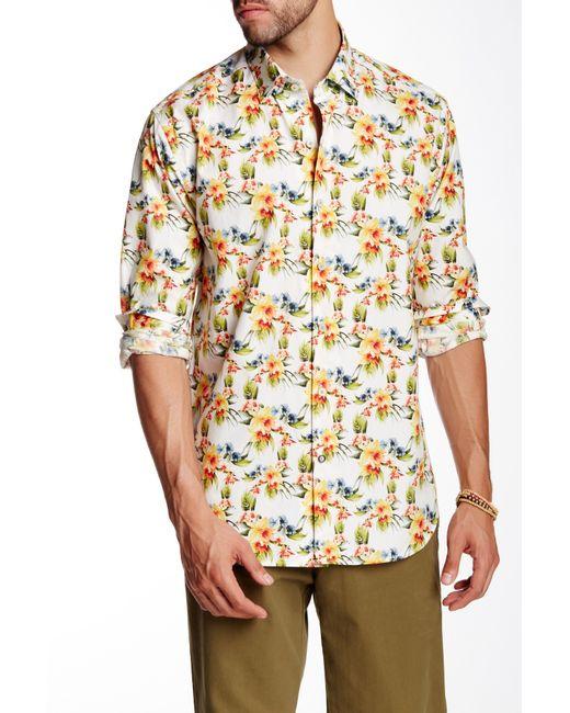 Tommy bahama ciao flora long sleeve regular fit shirt in for Tommy bahama long sleeve dress shirts