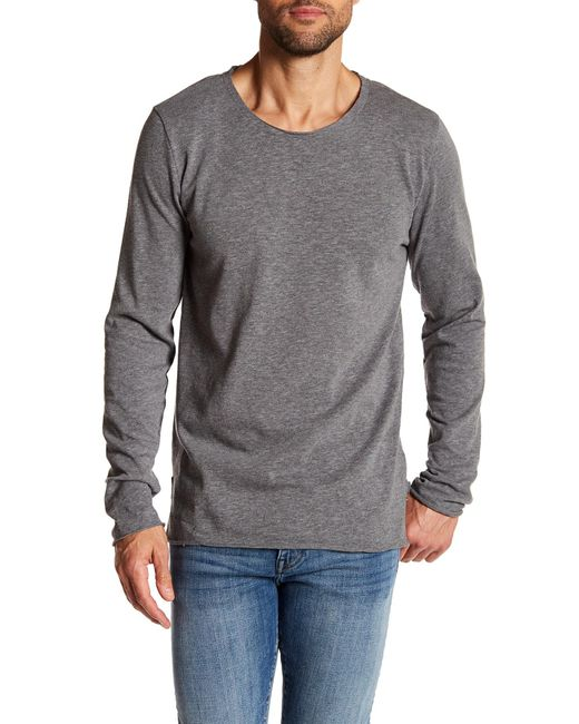 Threads For Thought | Gray Charleston Jersey Slub Long Sleeve Tee for Men | Lyst