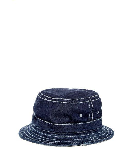 True Religion | Blue Reversible Bucket Hat for Men | Lyst