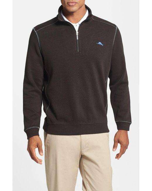 Tommy Bahama | Black 'antigua' Half Zip Pullover for Men | Lyst