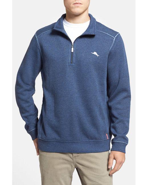 Tommy Bahama | Blue Antigua Half Zip Pullover for Men | Lyst