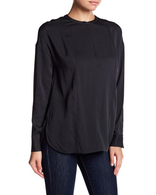 Vince   Blue Embroidery Stitch Blouse   Lyst