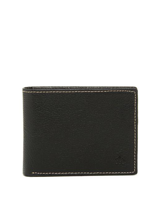 Original Penguin | Black Leather Bi-fold Wallet for Men | Lyst