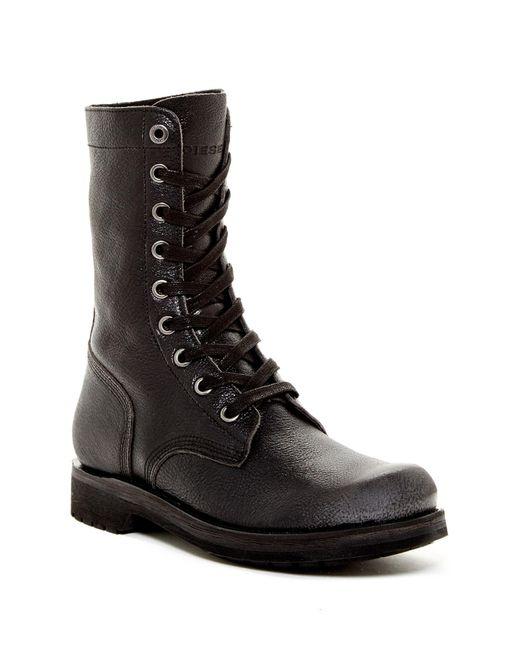 DIESEL   Black Ruggst D-komtop Boot for Men   Lyst