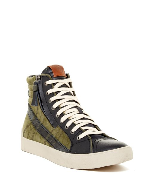 DIESEL | Green D-velows D-string Plus Mid Sneaker for Men | Lyst