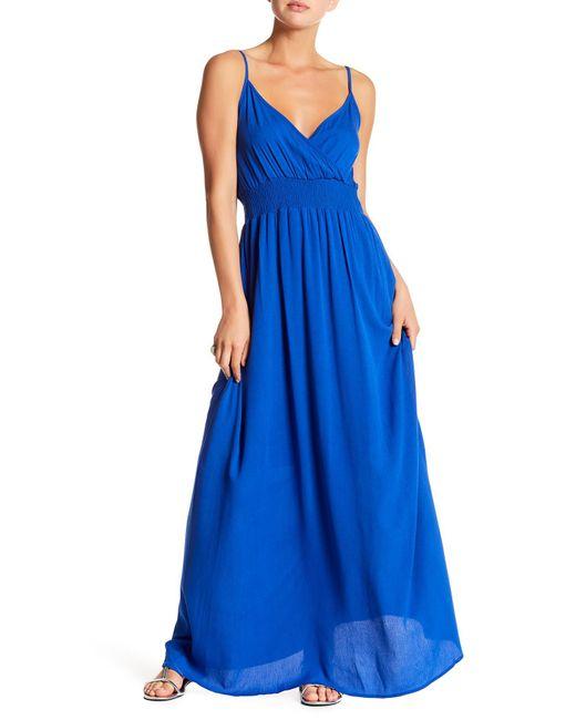 West Kei   Blue Gauze Maxi Dress   Lyst