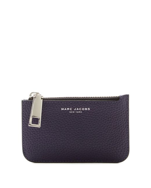 Marc Jacobs - Blue Gotham Pebbled Leather Key Pouch - Lyst