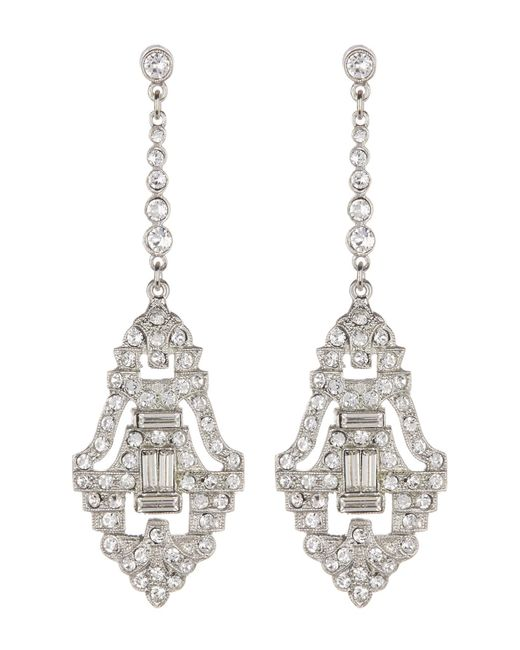 Ben-Amun - Metallic Pave & Bezel Set Pave Crystal Deco Drop Earrings - Lyst