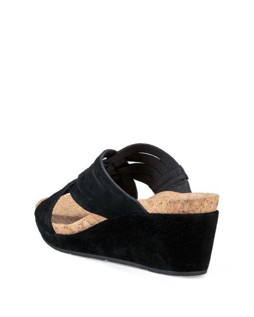 bfcb8f3b313 ... Ugg - Black Lilah Strappy Suede Wedge Platform Sandal - Lyst ...