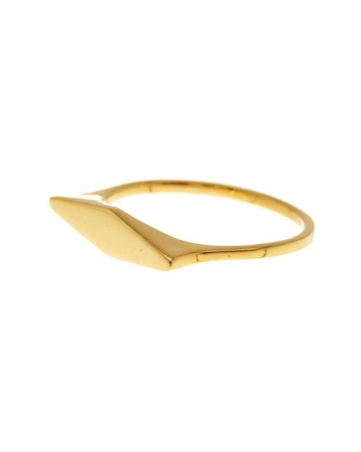 Bony Levy | Metallic 14k Yellow Gold Link Ring | Lyst