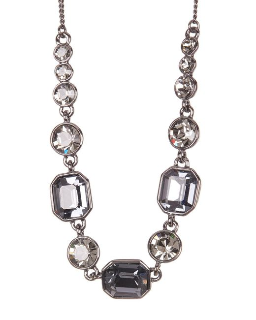 Givenchy - White Square Stone Crystal Necklace - Lyst