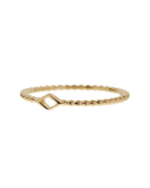 Bony Levy | Metallic 14k Yellow Gold Diamond-shape Beaded Ring | Lyst