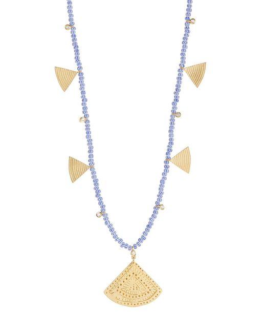 Elizabeth and James - Metallic Julian White Topaz Beaded Geometric Pendant Necklace - Lyst