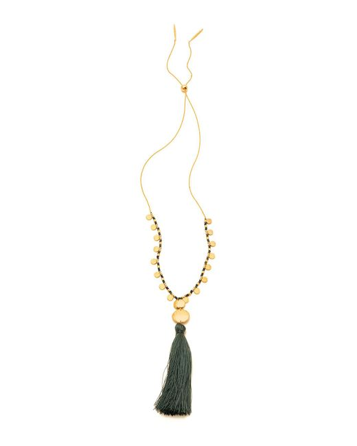 Gorjana - Metallic Leucadia Beaded Tassel Necklace - Lyst