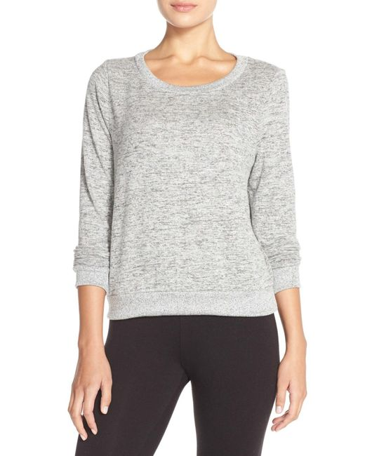 Make + Model - Gray Brushed Hacci Sweatshirt - Lyst