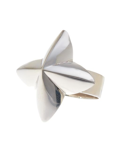 Argento Vivo | Metallic Sterling Silver Flower Ring (size 7) | Lyst