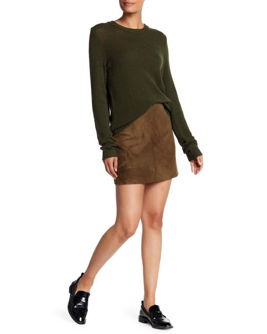 Theory   Multicolor Irenah Suede Skirt   Lyst