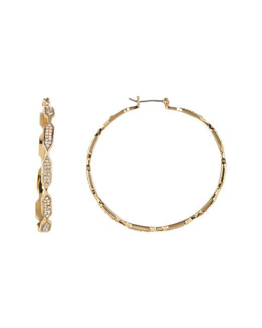 Vince Camuto - Metallic Linear Openwork 50mm Hoop Earrings - Lyst