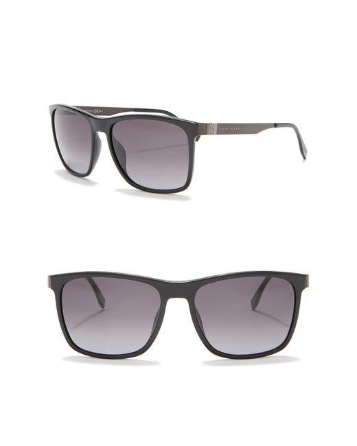 4718096c8ec BOSS - Gray 57mm Square Sunglasses for Men - Lyst ...