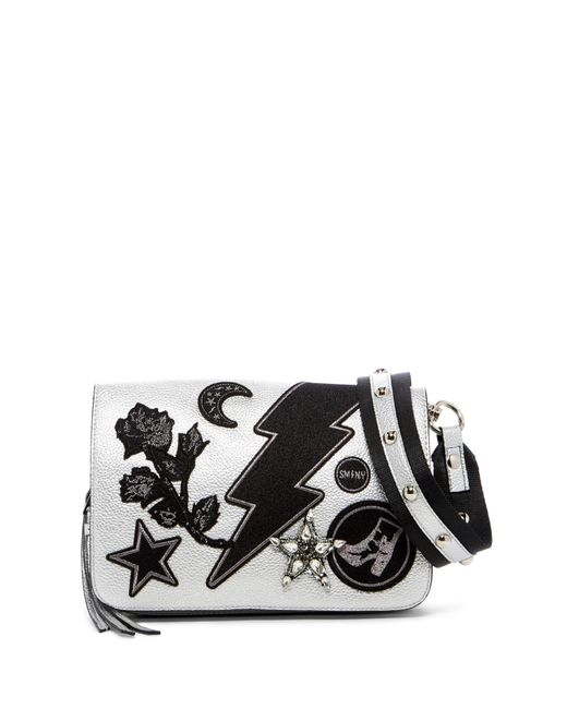 Steve Madden | Metallic Patchwork Embellished Crossbody Bag | Lyst