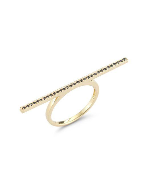 Dana Rebecca - Metallic 14k Yellow Gold Diamond Sylvie Rose Long Bar Ring - 0.16 Ctw - Lyst