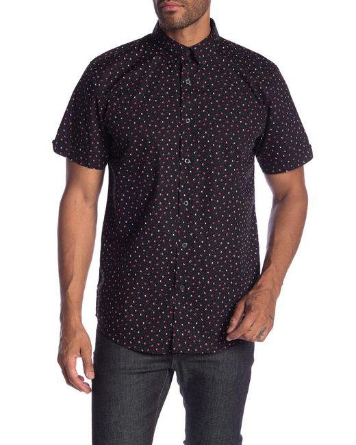 Ben Sherman - Black Short Sleeve Shadow Spot Print Shirt (snow White) Men's Clothing for Men - Lyst