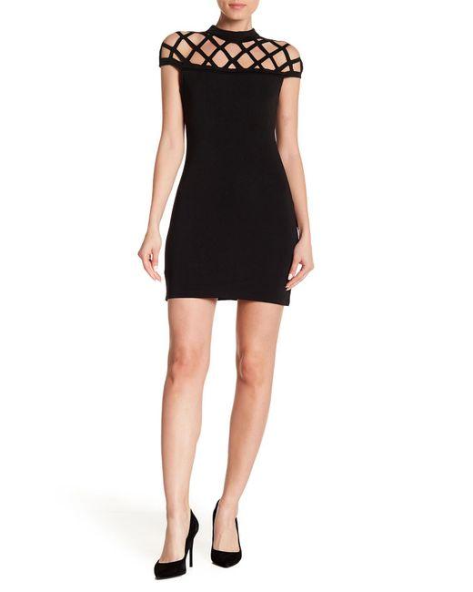 Haute Rogue - Black Cutout Bodycon Dress - Lyst