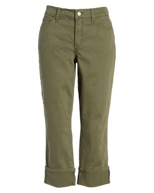 NYDJ - Green Dayla Colored Wide Cuff Capri Jeans (petite) - Lyst