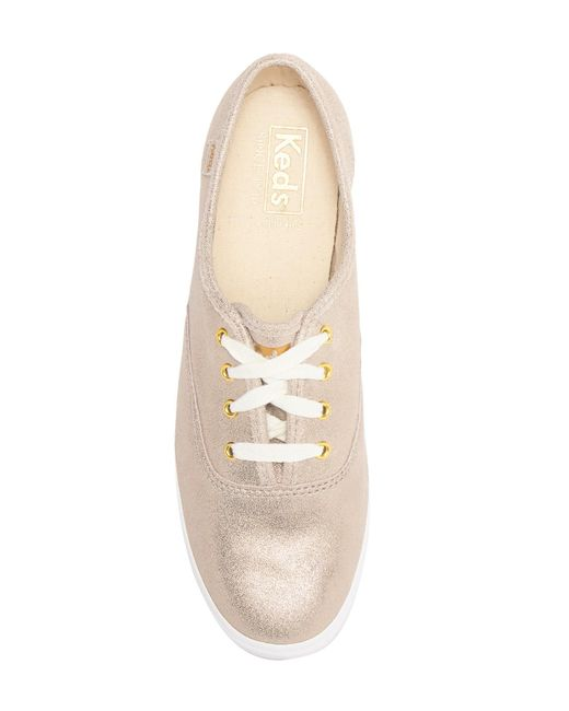 81a506ac74b1 ... Keds - Multicolor Champion Glitter Suede Sneaker - Lyst ...