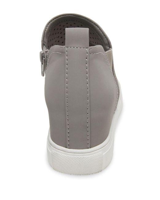 4f90ddfd22f ... Steven by Steve Madden - Gray Clarke Leather Slip-on Sneaker - Lyst ...