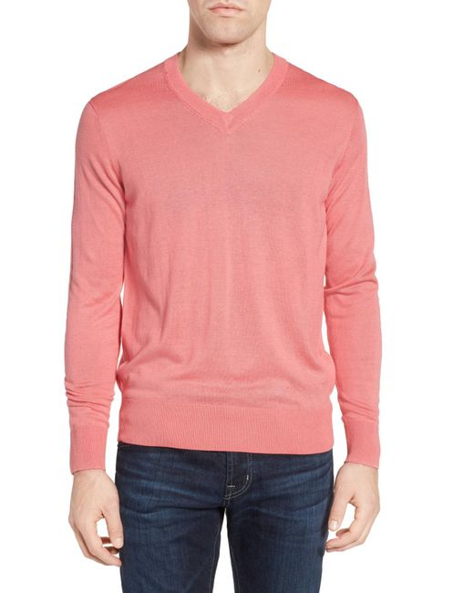 Jeremy Argyle Nyc | Pink V-neck Sweater for Men | Lyst