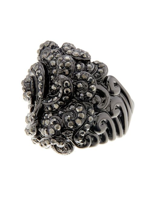 Ariella Collection | Multicolor Baroque Pave Ring | Lyst