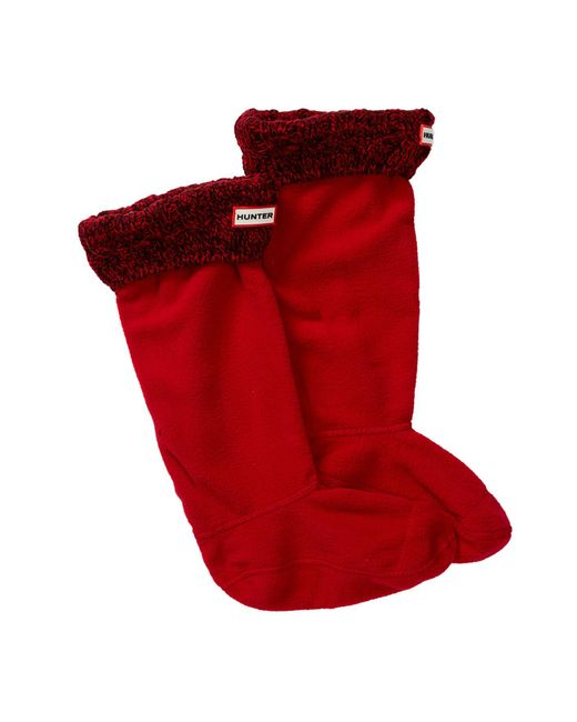 Hunter - Red Original Tall Stitch Cable Boot Sock - Lyst